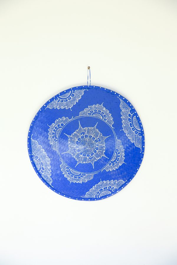 hand-painted paddy hat royal blue