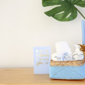 basket blue spa