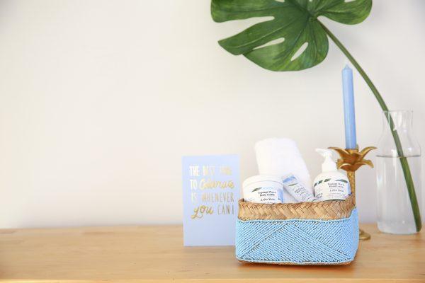 basket blue spa