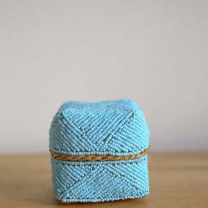 basket bamboo blue