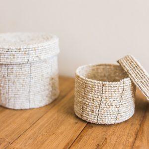 bali bliss Buana set of beaded baskets