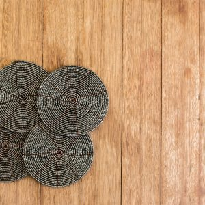bali bliss Putu set beaded coasters