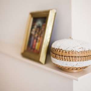 bali bliss Rai beaded basket