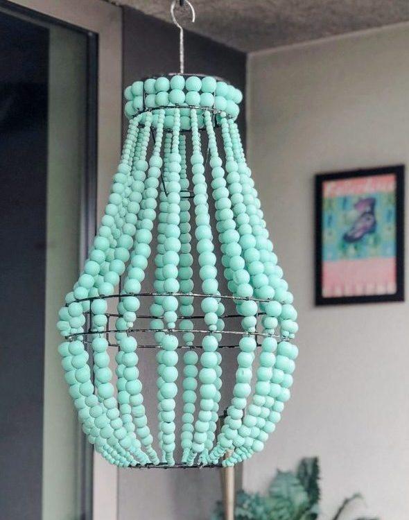 kayu beaded chandelier