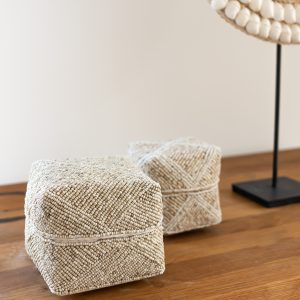 Melaya set - set of 3 beaded baskets