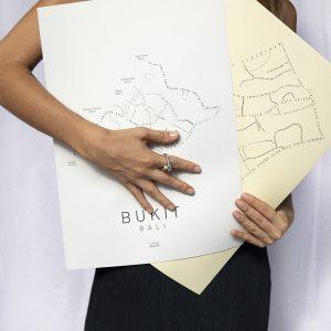 poster bukit white