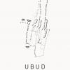 poster ubud white