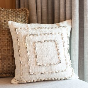 bali bliss cushion cover cowrie shells