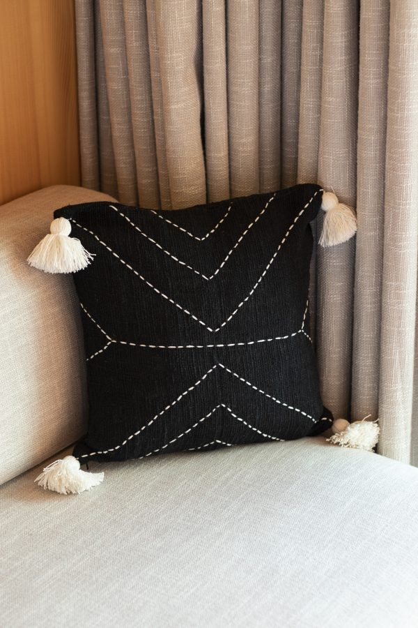 linen cushion cover with tassel