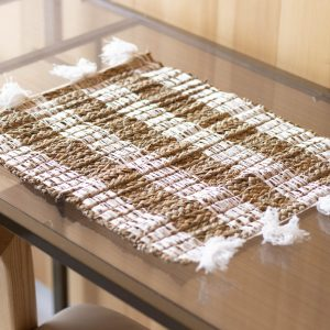 Banana leaf placemat with fringe