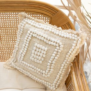 Soft cotton cushion cover with shells