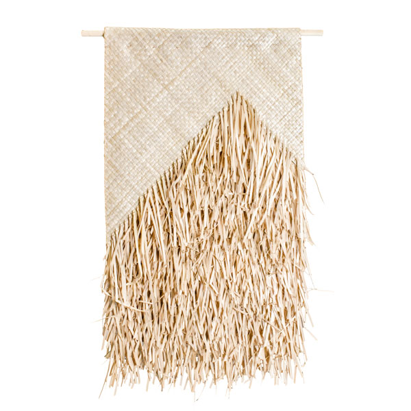 Woven wall hanging palm leaves