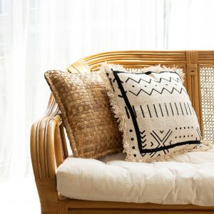 Soft cotton cushion cover with tribal print